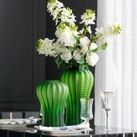Скандинавские зеленые стеклянные ваза кактус украшение домашнего декора Цветочные украшения подарки
