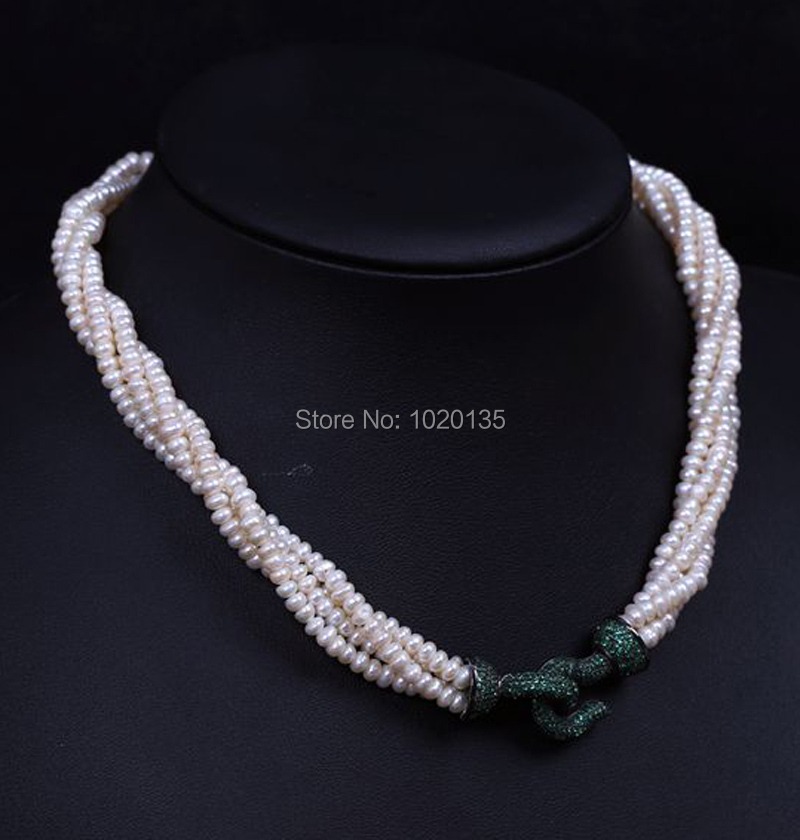 3rows freshwater pearl roundel 6-7mm necklace 18inch white   FPPJ wholesale beads gift nature 3rows freshwater pearl roundel 6-7mm necklace 18inch white   FPPJ wholesale beads gift nature