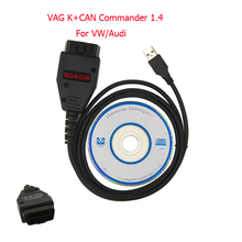 VAG K+CAN Commander 1.4 Full OBD 2 Diagnostic Scanner Cable High Quality Chips OBD2 Connector Adapter For VW AUDI SEAT SKODA