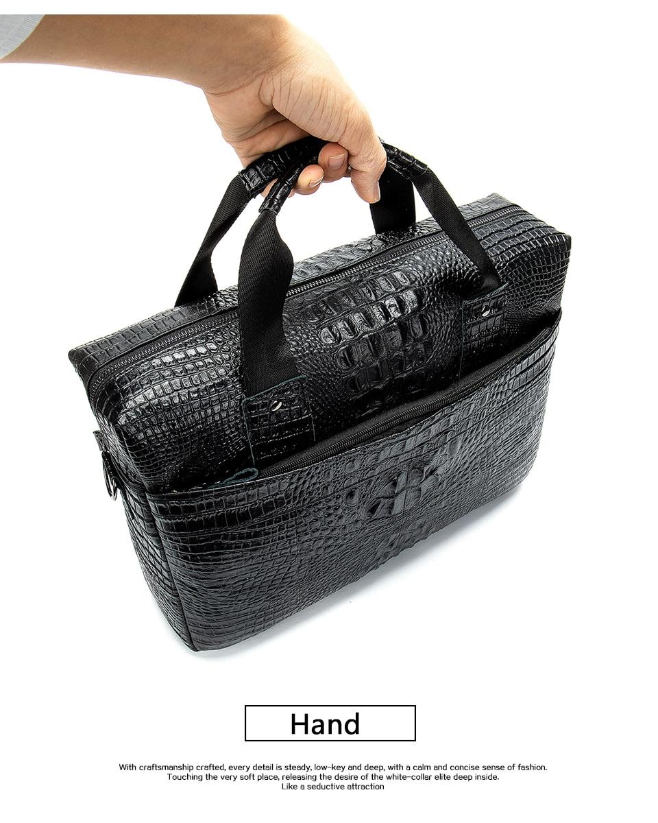 HTB13CvnXk9E3KVjSZFGq6A19XXa4 MVA Male briefcase/Bag men's genuine leather bag for men leather laptop bags office bags for men Crocodile Pattern handbag 5555