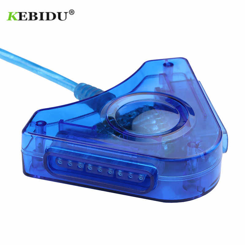 Kebidu новый джойстик USB двойной плеер конвертер Кабель-адаптер для PS2 геймпад двойной Playstation 2 PC USB игровой контроллер