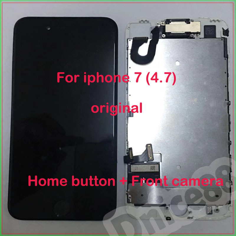 For Iphone 7 LCD Has White And Black Colour,high Quality Screen And 100% Original Display,with The Front Camera And Home Button