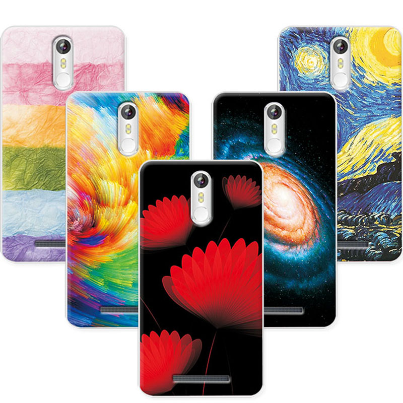 Soft TPU Coque For Leagoo M8 Case Cover Flowers Plants Scenery Painting Phone Cases For Leagoo M8 M 8 5.7