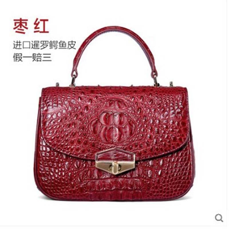 yuanyu New crocodile leather lady bag real leather Thai crocodile bag handbag genuine single shoulder cross bag