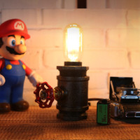 Industrial Vintage Edison Bulb Desk Lamp Loft Personalized Decoration Water Pipe Table Lamp Night Lighting