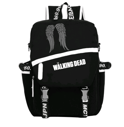 The Walking Dead Cosplay Backpack Daryl Dixon Cosplay Shoulder Bag Black Backpack College For Costume Accessory