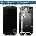 Nova chegada para prestigio multiphone pap 7500 display lcd + digitador da tela de toque para o prestigio pap7500 lcd com quadro