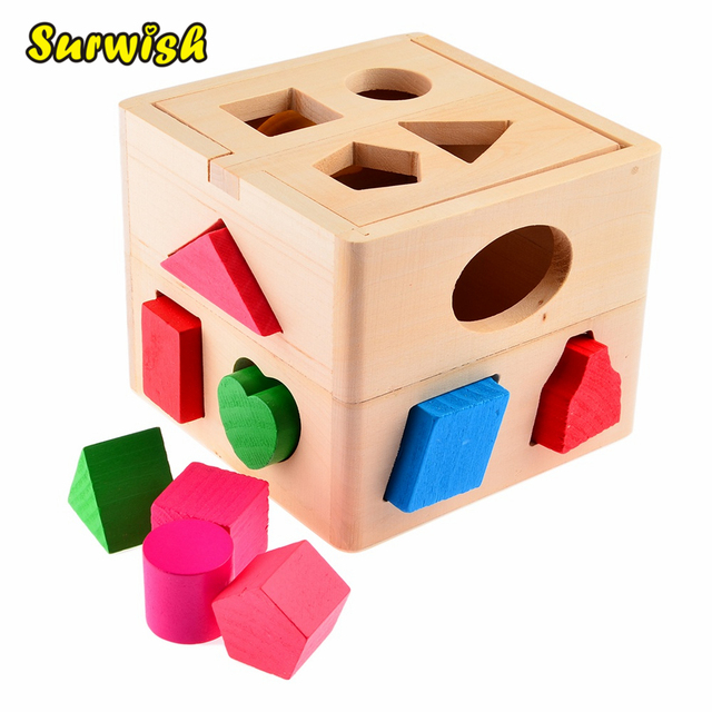 Baby Block Toy Box : Surwish hole intelligence box for shape sorter