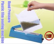 NEW 110V 200 Hand pressure PP PE Sealer plastic film manual impulse sealing machine packing machine/tools цена
