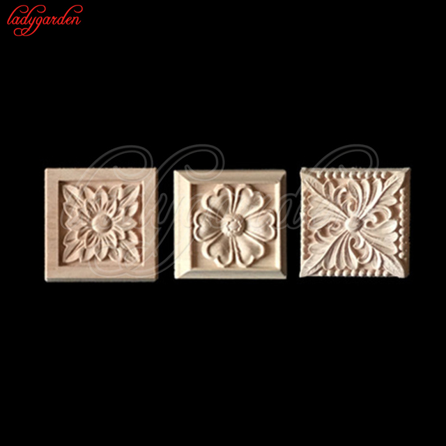 12 12cm Wood Fl Carving Lique Home Carved Liques For Furniture Decorative Door Cabinet European Figurines