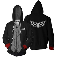 Anime Persona 5 Hoodies Sweatshirts Men 3D Prnted Hip Hop zip up Hooded Coats man Casual Tracksuit Streetwear Jackets