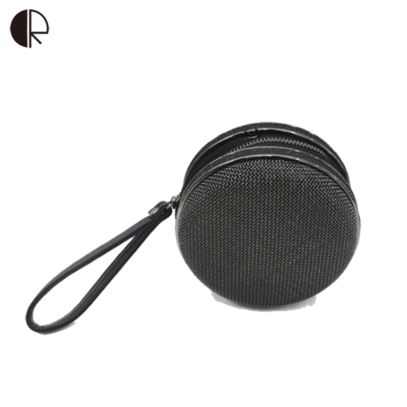 ФОТО High Quality  Women Mini Burgers Spherical Shape Iron Mesh Day Clutches Solid Handbags Evening Bags Cluth Wedding BS581