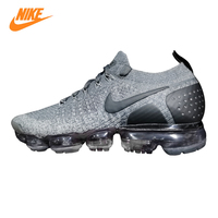 Nike Vapormax Flyknit 2.0 Men's and Women's Running Shoes, Grey/green, Shock absorbing Non slip Breathable 942842 002 942842 701