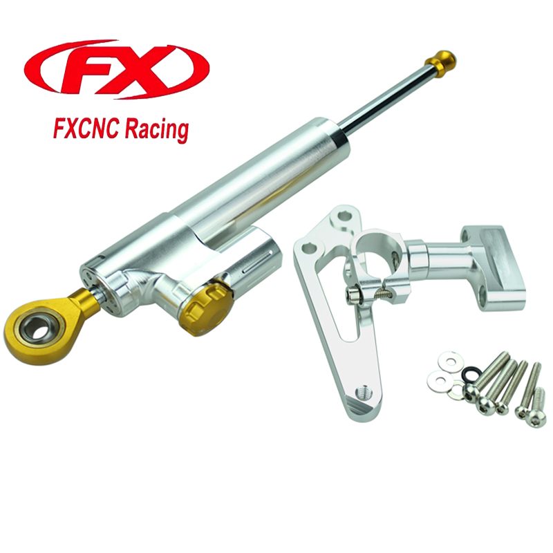 FX Aluminum Motorcycle Steering Stabilize Damper Bracket Mount Kit For HONDA CB600F CB 600F HORNET 2007-2016 Moto Accessories