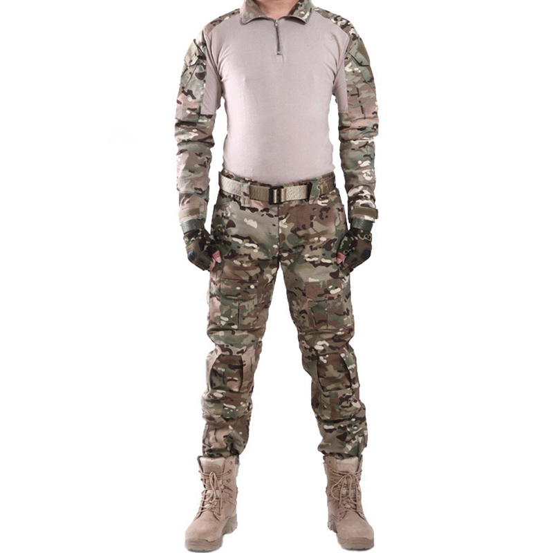 2f46e48df30a0 SWAT Tactical Camouflage Military Uniform Clothes Suit Men US Army Multicam  Hunting Combat Shirt + Cargo Pants Knee Elbow Pads-in Hunting Ghillie Suits  from ...