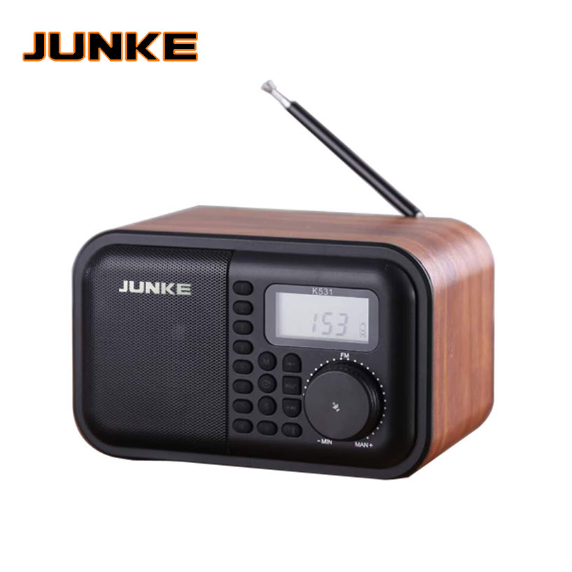 JUNKE Wooden Bluetooth Speaker Portable HiFi Speakers TF Play Hand Free Call AUX Input Super Bass