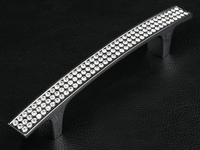 Hole Space 128mm Glass crystal wardrobe pull zinc alloy kitchen cabinet Drawer pull cupboard closet furniture handle pull probrico 1 pcs modern black kitchen cabinet handle square bar furniture drawer knob cupboard pull hole space 96mm 128mm pd2096 page 3