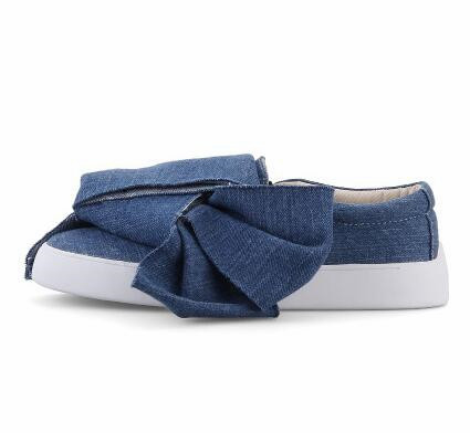 2017 popular women denim shoes fashion flats loafers shoes big butterfly-knot ladies shoes Comfortable casual shoes size 34-39 enmayer most popular portable women shoes loafers casual shoes charming flats shoes soft leather big size 34 43 comfortable