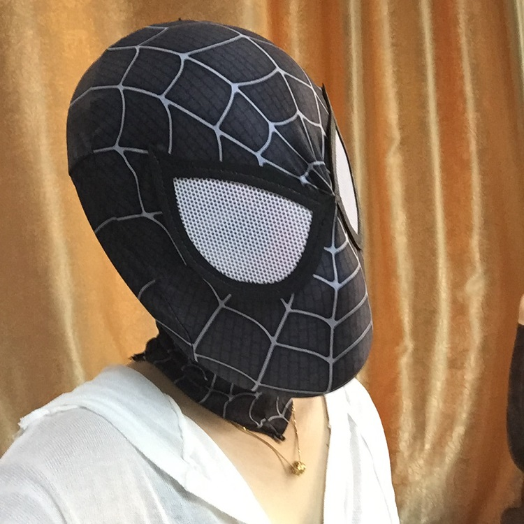 The Amazing Spider-man Black Mask Helmet for Halloween Cosplay Unisex Role Play