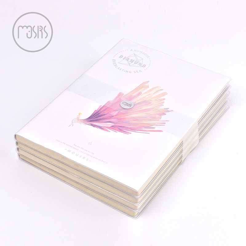 New Cute notebook school Diary 96 sheets Horizontal line paper Notepad Creative Trends Note book Office school supplies gift a6 diary pink notebook simple fabric 128 sheets coffee gray notepad line paper diary book school office supplies