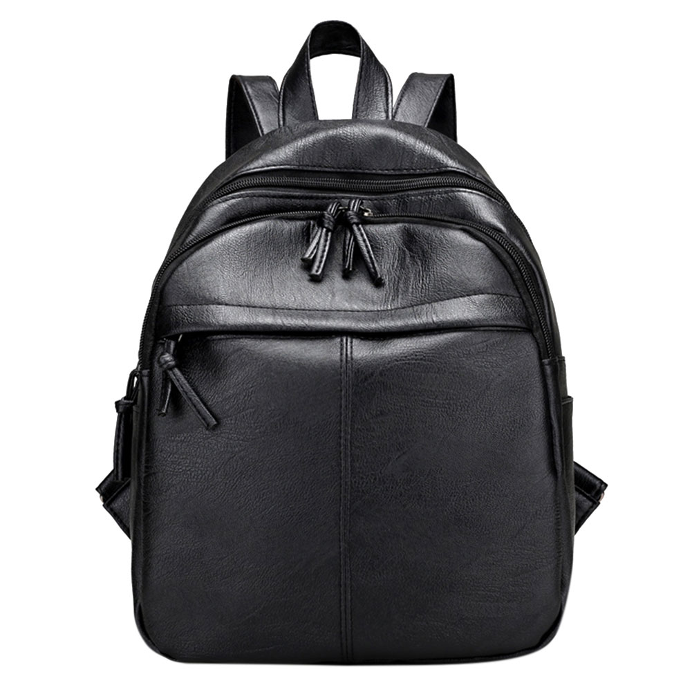 Casual Women Tassel Backpacks PU Leather Backpack Travel Bag Preppy Chic Girls School Bags for Teenager Girls Rucksack Mochila 2016new rucksack luxury backpack youth school bags for girls genuine leather black shoulder backpacks women bag mochila feminina