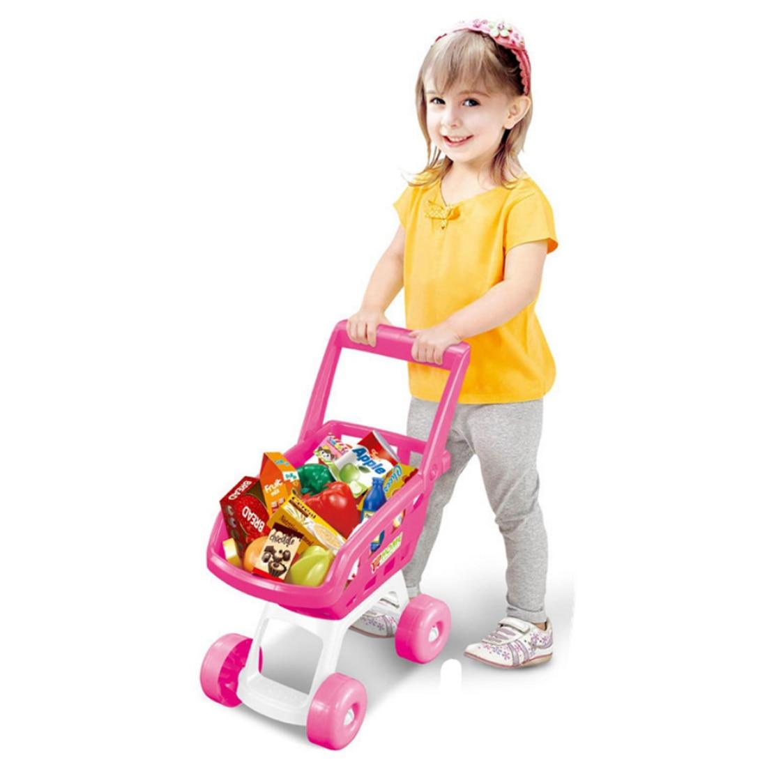 1 Set Bambini Giochi Di Imitazione Giocattoli Supermercato Carrello Della Spesa Carrelli Giocattolo Per I Bambini Con L'alta Qualità-ragazze/ragazzo Tipo Bello A Colori
