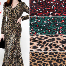 leopard gown dress Chiffon fabric crepe fabric summer fashion material breathable cosplay DIY craft fabric 1 yard chiffon fabric bronzed summer fabric shiny fabric bronzing costume fabric diy stage cosplay dress 1m lot
