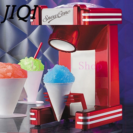 JIQI Mini Snow Drink Slushy Maker ice shaver block shaving machine ice crusher ice smoothies Snow Cone machine kitchen tools EU