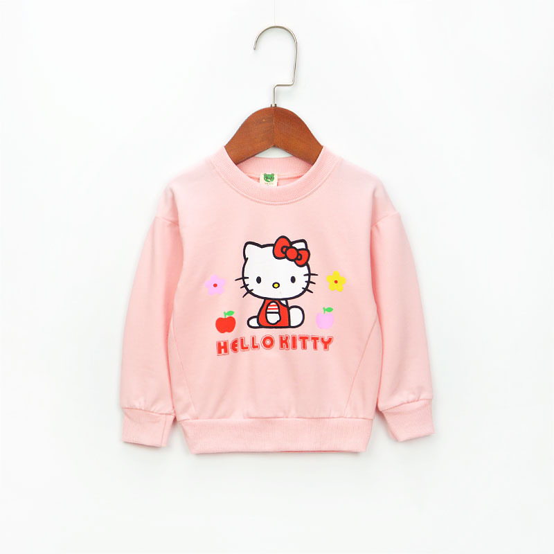2017 new autumn girls' fashion shirts cotton sweatershirts cartoon cothes 0-3years baby clothing