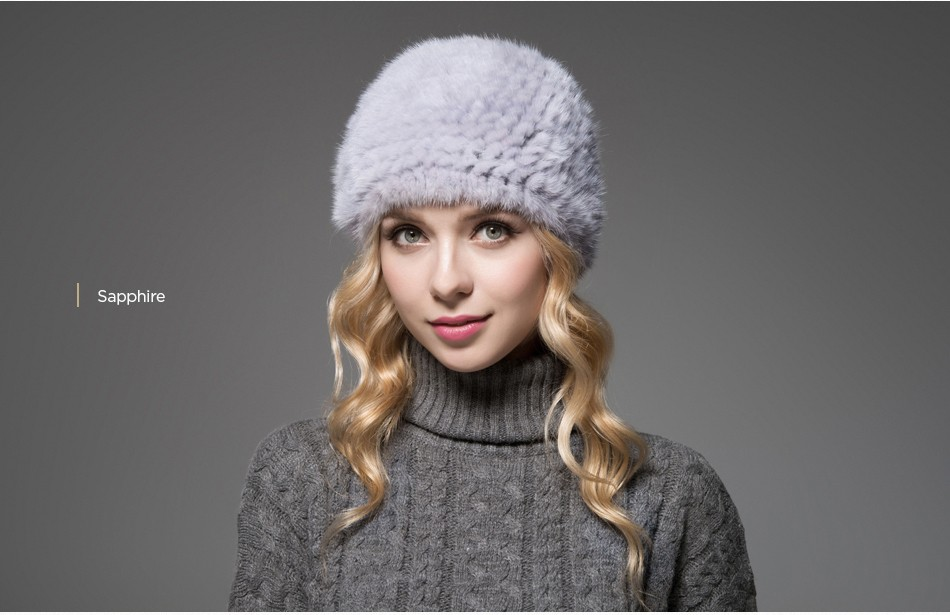 ladies fur hat winter PCM013 (15)