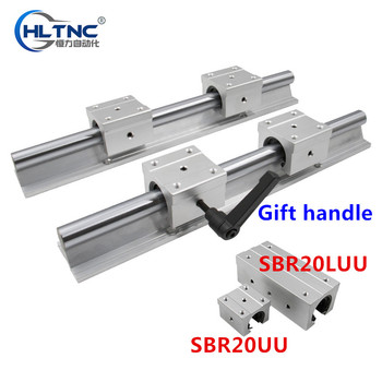 20mm linear rail SBR20 1800mm 2pcs and 4pcs SBR20UU linear bearing blocks for cnc parts