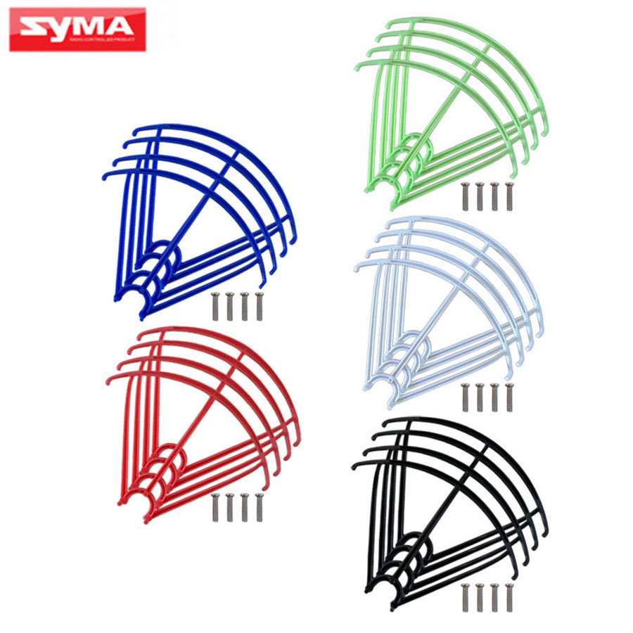 4Pcs/Set Syma RC Quadcopter Blades Protection Frame Guard  Spare PartsFor X5 X5C X5S X5SC X5SW Propeller Protectors Accessories cheap sale 4pcs set white syma x5 x5c main blades propellers spare part x5c 02 rc quadcopter free shipping