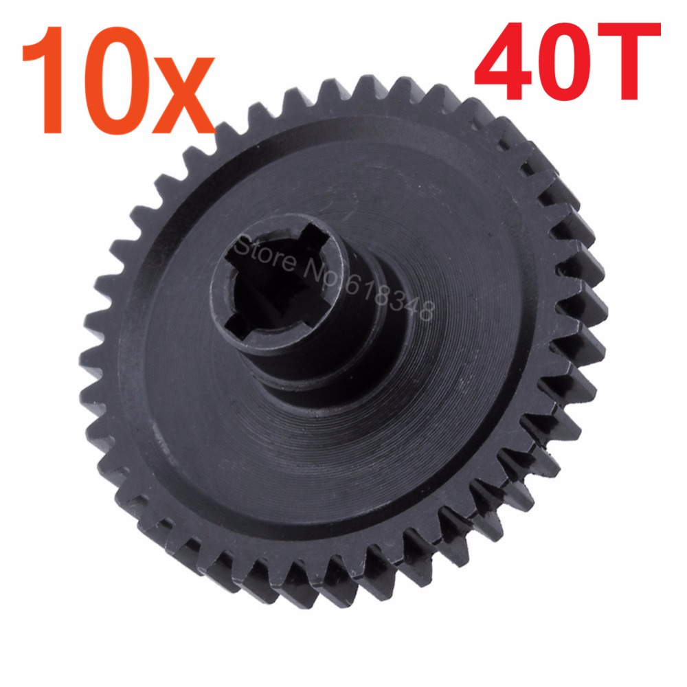 10pcs/Lot Steel Metal Diff Main Spur Gear 40T For 1/18 WLtoys A959 A969 A979 K929 Upgrade Parts wltoys 1 18 rc car upgrade parts metal diff main gear for a949 a959 a969 a979