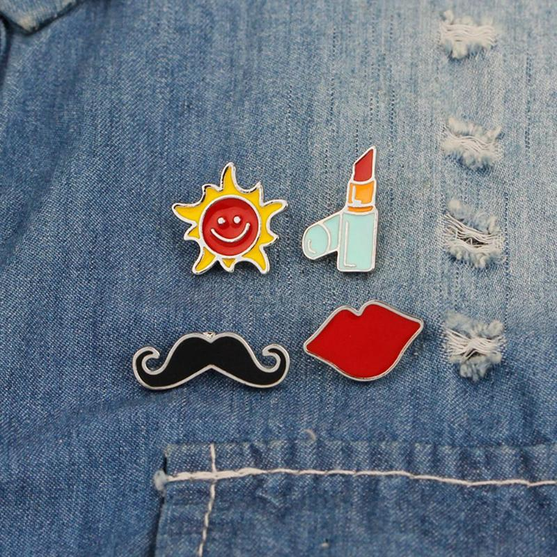 1pc Cheap Cute Little Cat With Sungalsses Brooch Button Pins Denim Jacket Pin Badge Badge Collar Jewelry Gift For Kids Up-To-Date Styling Arts,crafts & Sewing Badges