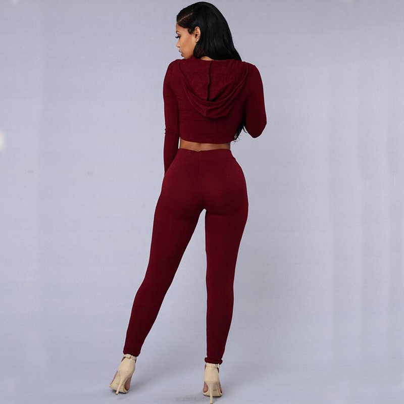 2018 new European and American women sets hot sale summer cotton t shirt pants solid two pieces clothing 9648
