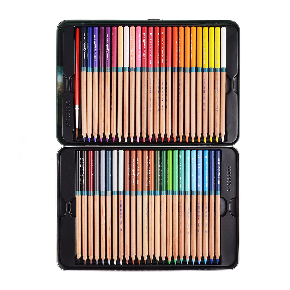 Marco Renoir Fine Art Professional Oily Colored Painting Pencil with Metal Box 48 Colors marco renoir fine art professional oily colored pencils 48 color painting pencil with tin box