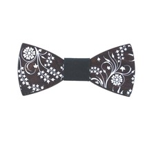 2017 evening dress dress tie high grade wood solid wood printed bow tie