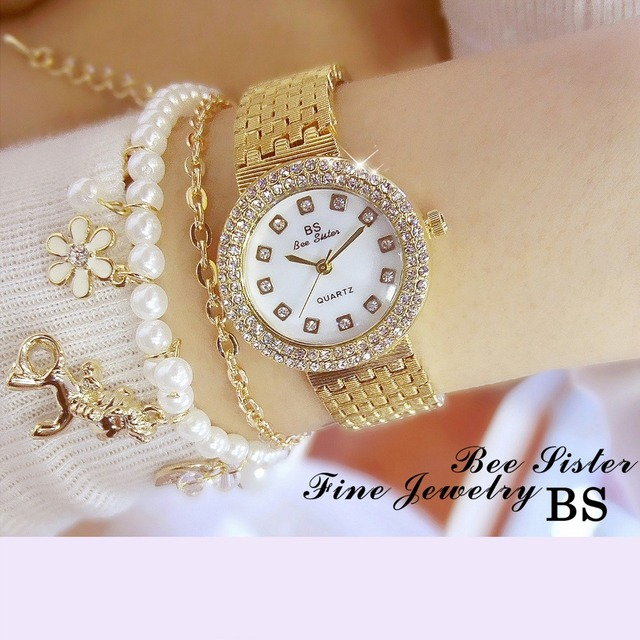 Creative Rose Gold Women's Bracelet Watches Ladies Dress Crystal Clock Women Ele