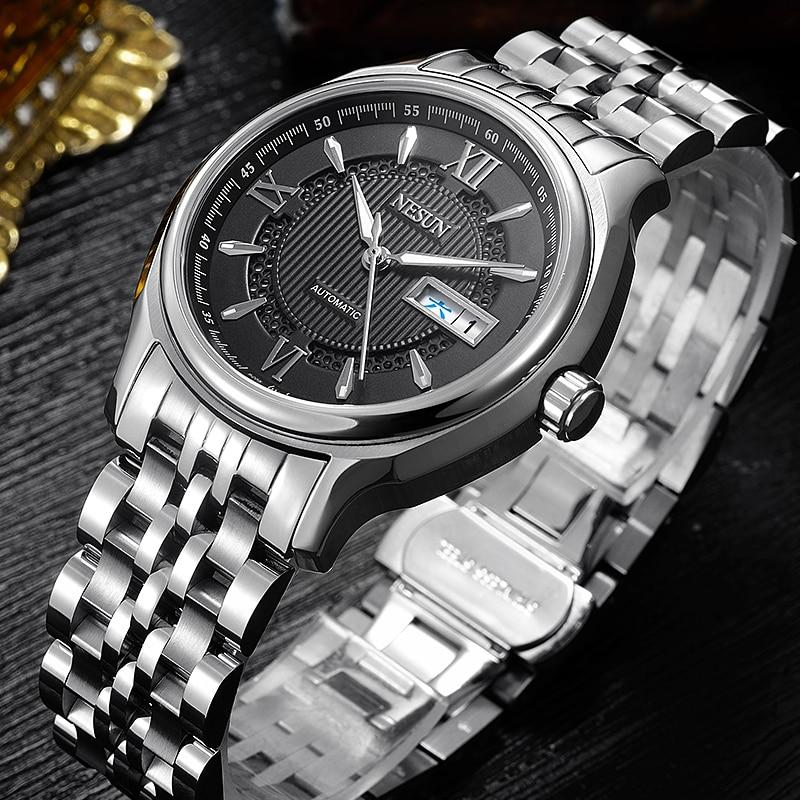 Switzerland Nesun Japan NH36A Auto Movement Watch Men Luxury Brand Men's Watches Sapphire Full Stainless Steel N9205-8