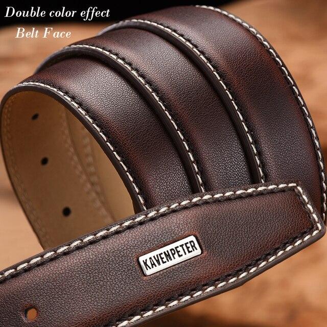 Fashion Stitched Leather Belt 6