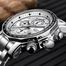 LIGE Watch Men Fashion Sport Quartz Clock Mens Watches Top Brand Luxury Silver A