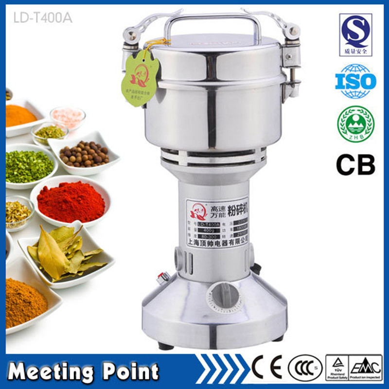 on sale 400grams stainless steel mini mill grinder family medicine powder machine electric mill corn все цены