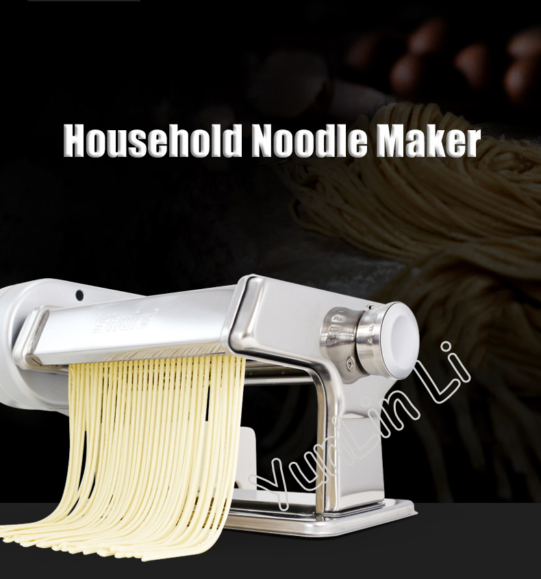 Household Pasta Noodle Maker Stainless Steel Small Electric Full Automatic Noodle Cutting Machine SLK500Household Pasta Noodle Maker Stainless Steel Small Electric Full Automatic Noodle Cutting Machine SLK500