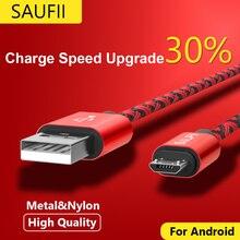 Кабель Micro Usb SAUFII нейлон Плоским USB Синхронизации Данных провода капа 5 В 2А Быстрая Зарядка Для Samsung HTC Sony Зарядное Устройство кабель(China (Mainland))