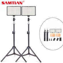 SAMTIAN 2 in 1 Fotografie Verlichtingsset 950 lm 160 LED-camera Video / Foto / Studio Licht Lamp met lichtstatief voor DSLR-camera