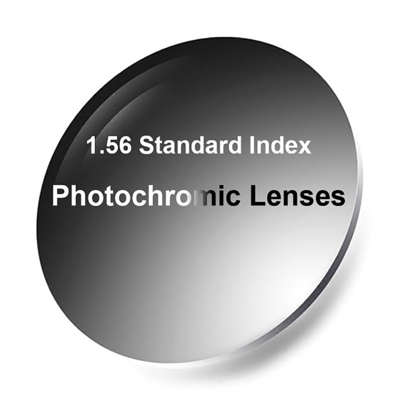 New 1.56 Photochromic Single Vision Lenses With Anti-Reflective Coating Finish Fast And Deep Dark Chaning Performance