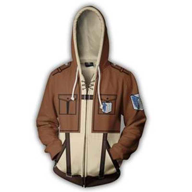 Angriff auf Titan Shingeki keine Kyojin Cosplay Hoodie Scouting Legion Jacken Eren Jaeger Mikasa Casual Sweatshirt Dünne Zipper Mantel