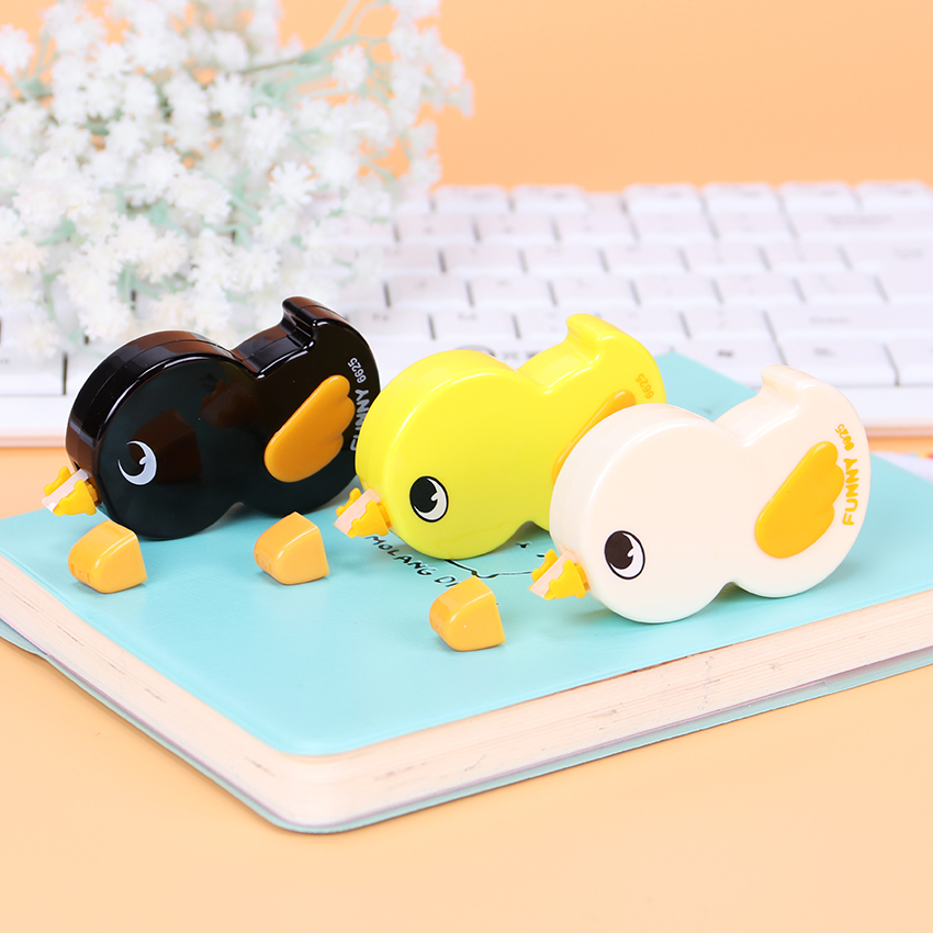 1PC Cute Ducklings Correction Tapes Material Escolar Kawaii Stationery Office School Supplies Papelaria