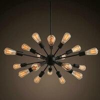 Free Shipping Vintage Chandeliers 18 Lights Sputnik Lighting Black Painting E26 E27 Bulb not Included for Living Bed Room 30