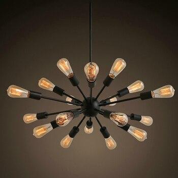 "Free Shipping Vintage Chandeliers 18 Lights Sputnik Lighting Black Painting E26 E27 Bulb not Included for Living Bed Room 30"""